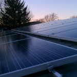 Photo taken from position of last panel on DIY solar install...