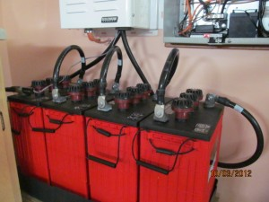 back up system Battery Bank