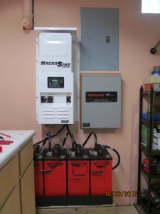Magna Sine inverter and Rolls batteries. Whole house transfer switch also.