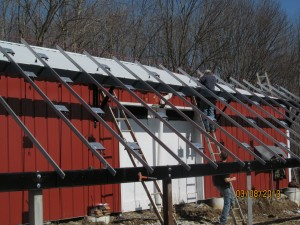 Racking goes up at East Fork Stables