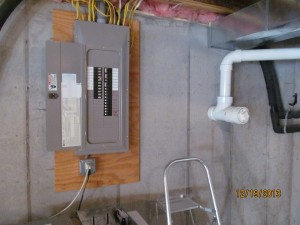 Current position of existing main breaker panel