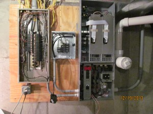 OutBack Radian Inverter Mounted