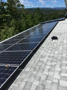 28 solar panels and 4 solar thermal panels by Keowee Home Solar